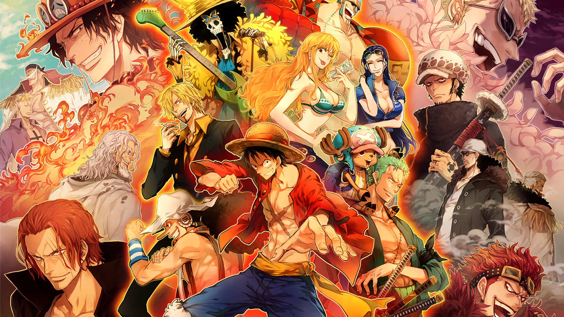 One Piece Encyclopedia is a database that anyone can edit about the Shonen Jump anime and manga series One Piece created by Eiichiro Oda, that features Monkey D. Luffy and other pirates.