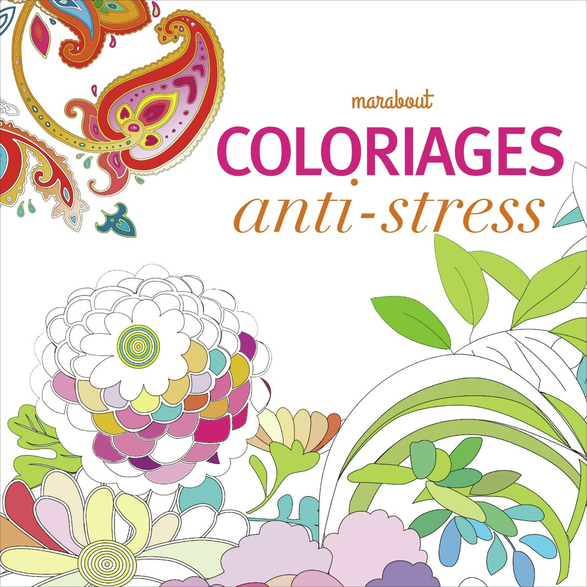 Art th rapie cahier anti stress chickon - Album coloriage adulte ...